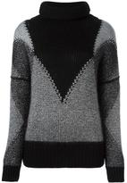 Cruciani panelled jumper