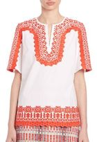 Tory Burch Isla Embroidered Tunic