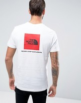 The North Face Red Box T-shirt Back Logo In White