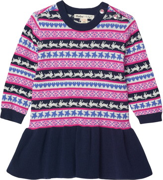 Hatley Fair Isle Bunnies Sweater Dress