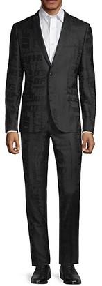 HUGO BOSS Extra Slim-Fit Printed Wool Suit