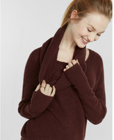 Express built-in snood two-way sweater