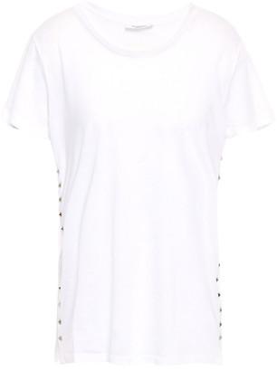 Valentino Studded Slub Cotton-jersey T-shirt