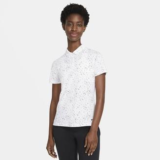 Nike Women's Printed Short-Sleeve Golf Polo Dri-FIT