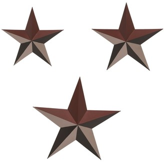 Transpac Metal 15 in. Multicolor 4th of July Americana Star Wall DAcor Set of 3