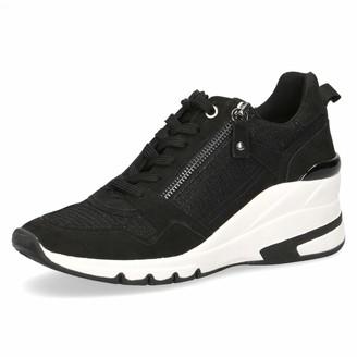 Caprice Women Lace-Up Flats Low tie Shoe Ladies Casual lace-up Shoes Low Shoe Laced Shoe Street Shoe Sneaker Wedge Heel