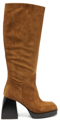 Nodaleto Bullia Knee-high Suede Platform Boots - Brown