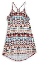 T2 Love Girl's Native Printed Ruffled Swing Dress