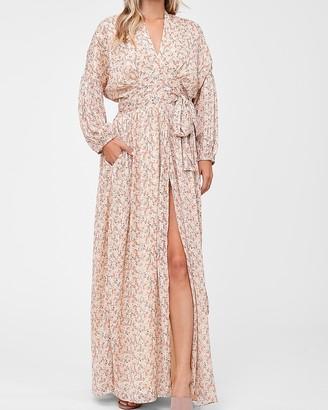 Express En Saison Floral Print Long Sleeve Maxi Dress