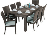 Three Posts Evansville 9 Piece Outdoor Dining Set with Cushion Cushion