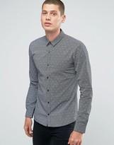 Hugo By Hugo Boss Smart Shirt Slim Fit Skull Print