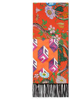 Gucci Flora Snake print silk scarf with pocket