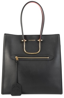 Alexander McQueen Large The Tall Story Leather Tote