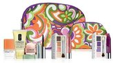 Clinique Fall 2013 Flower Cosmetic Bag Duo 2pc Set (1 Large, 1 Small)