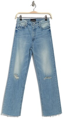 Black Orchid Marisa Relaxed Fray Straight Leg Jeans