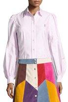 Marc Jacobs Bishop-Sleeve Cotton Blouse