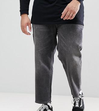 Asos PLUS Skater Jeans In Vintage Washed Black