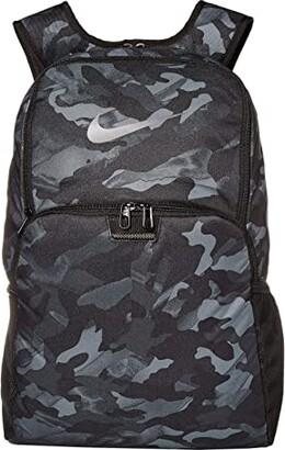 Nike Brasilia XL All Over Print Backpack 9.0 (Light Smoke Grey/Black/Metallic Cool Grey) Backpack Bags