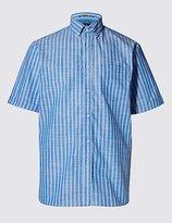 Pure Cotton Slub Striped Shirt