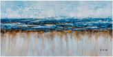 """Iicart Inc. """"Abstract Ocean Beach"""" Hand Painted Canvas Artwork; Fine Art, Modern A"""