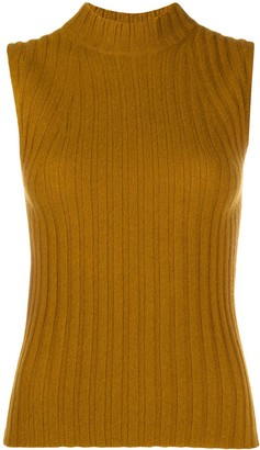 Vince Sleeveless Chunky-Knit Cashmere Jumper