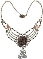 Elope Steampunk Gear Chain Antique Necklace Adult