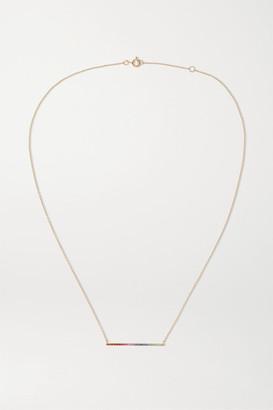 Diane Kordas 18-karat Rose Gold Multi-stone Necklace