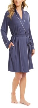 Alfani Piping-Trim Wrap Robe, Created for Macy's