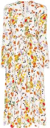 By Ti Mo byTiMo floral print tie-waist maxi dress