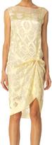Max Studio Silk Devoré Sleeveless Dress