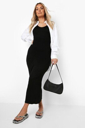 boohoo Plus Scoop Neck Jersey Maxi Dress