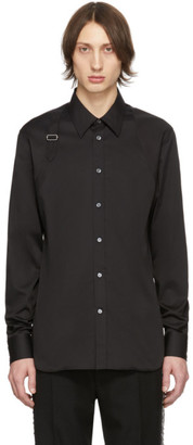 Alexander McQueen Black Poplin Buckle Shirt