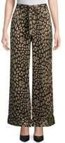 Equipment Leopard-Print Silk Pajama Pants