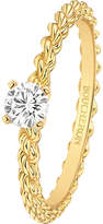 Boucheron Serpent Bohème 18ct yellow-gold and solitaire diamond ring