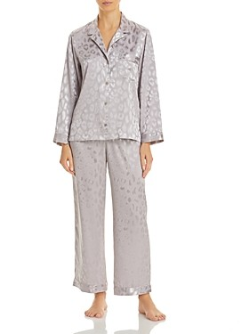 Natori Notch Leopard-Print Pajama Set