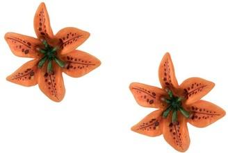 Dolce & Gabbana Lilium clip-on earrings