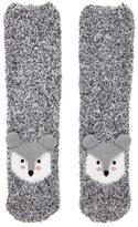 Forever 21 FOREVER 21+ Fox Fuzzy Crew Socks - 2 Pack