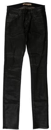 J Brand Low-Rise Coated Jeans
