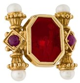 Tagliamonte 18K Pearl & Ruby Cocktail Ring