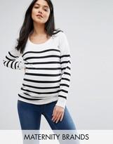 Mama Licious Mama.licious Mamalicious Stripe Knitted Long Sleeve Sweater