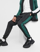 Asos Design DESIGN co-ord super skinny joggers in poly tricot in colour block