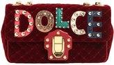 Dolce & Gabbana Medium Lucia Velvet Bag W/ Logo Patches