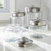 Crate & Barrel Montana Jars with Metal Lids