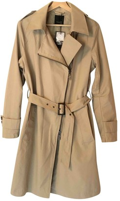 Sand Beige Cotton Trench Coat for Women