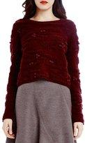 Raoul Camo Plush Long Sleeve Crop Sweater