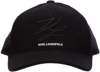 Karl Lagerfeld Paris Logo Embroidered Baseball Cap