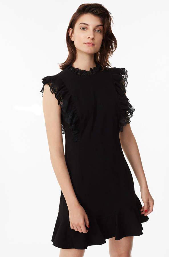Crepe & Lace Dress