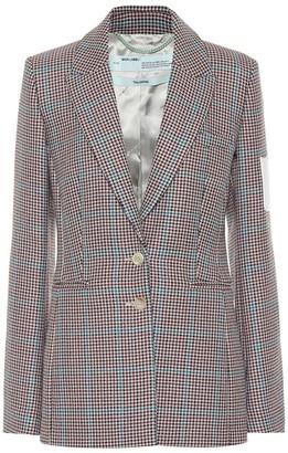 Off-White Off White Checked wool blazer