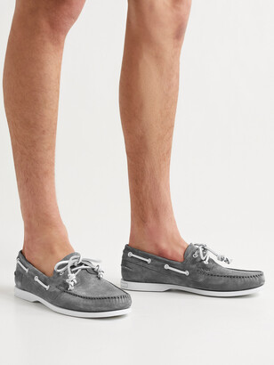Manolo Blahnik Sidmouth Suede Boat Shoes