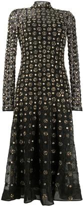 Temperley London Crossbone Lattice crystal-embellished dress